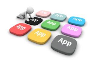 """Symbolgrafik: Kästchen mit dem Schriftzug """"App"""""""