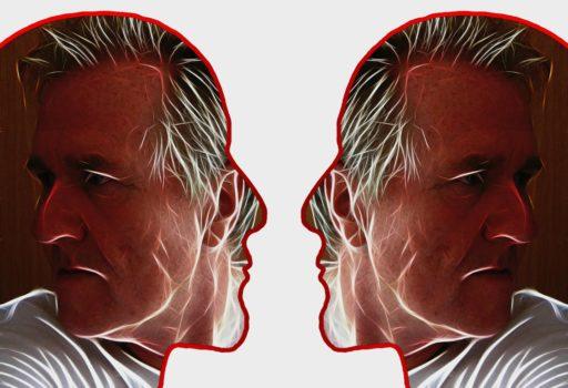 Symbolbild: Mann im Profil, von zwei Seiten