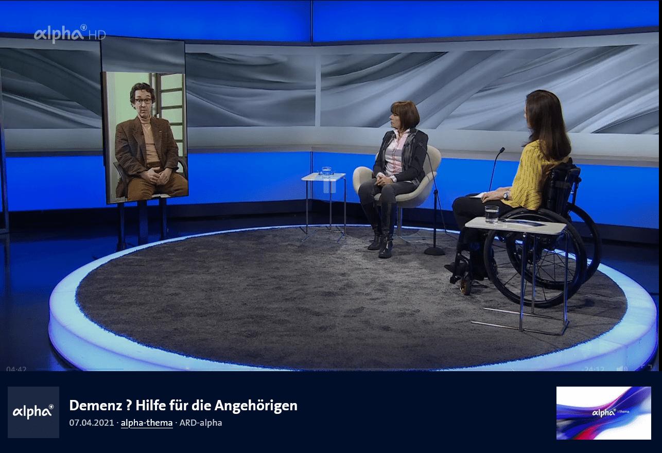 """""""Demenz ? Hilfe für die Angehörigen"""" – Prof. Gräßel im ARD alpha-Gespräch"""